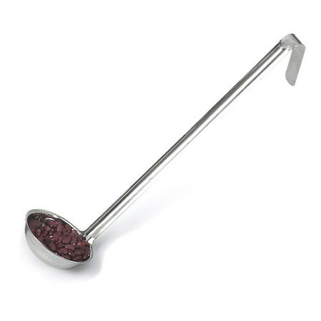 Carlisle 607354 4-oz Round Serving Ladle - Hooked Handle, Stainless