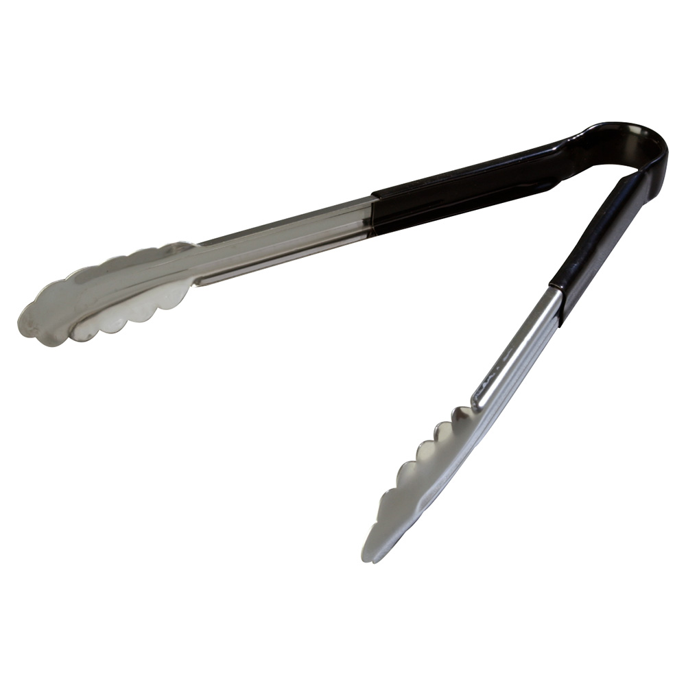 "Carlisle 60756203 12"" Utility Tongs - Stainless/Black"