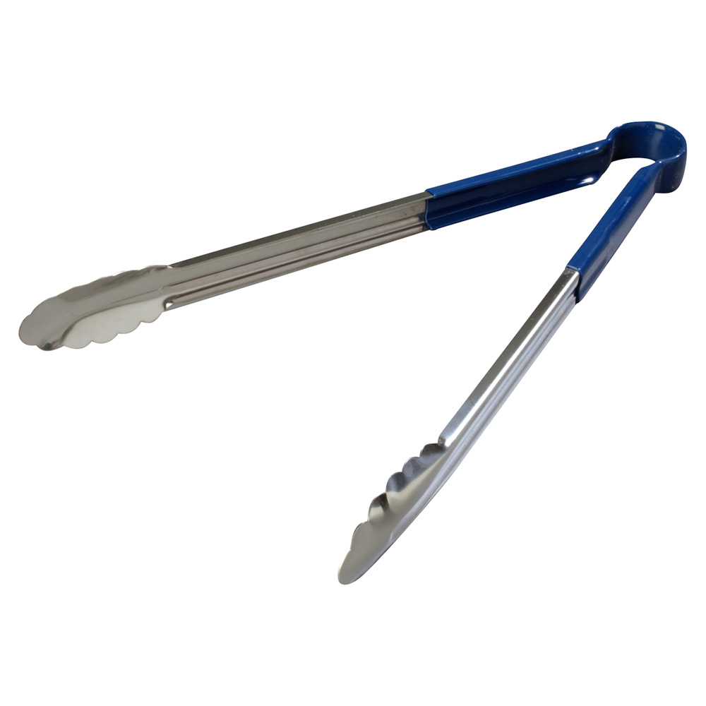 "Carlisle 60756614 16"" Utility Tongs - Stainless/Blue"
