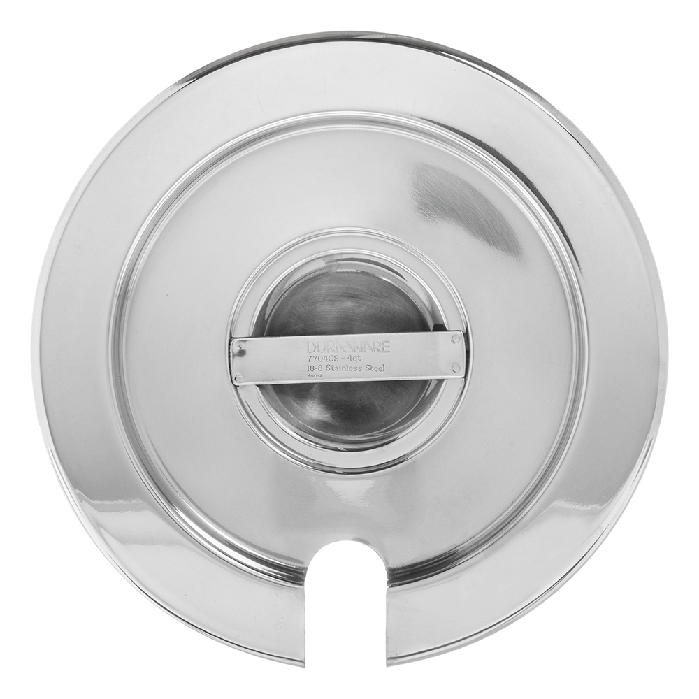 Carlisle 607704CS 4-qt Inset Cover for 607704- Notched Handle, Stainless
