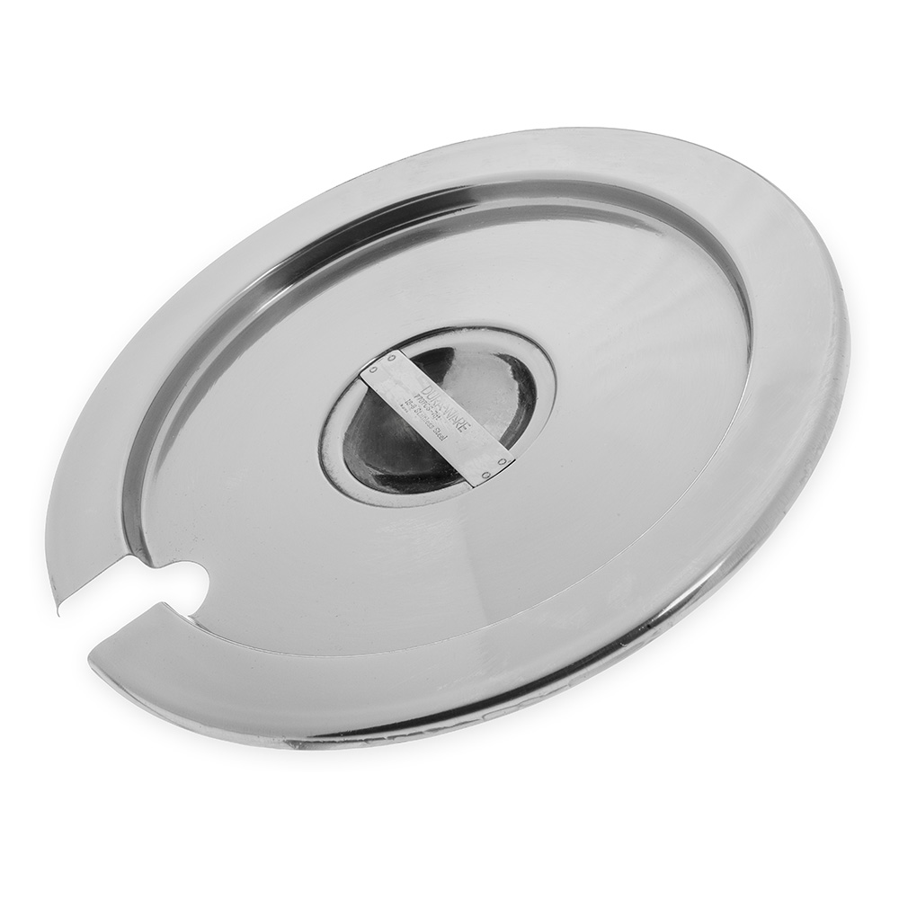 Carlisle 607707CS 7-qt Inset Cover - Notched Handle, Stainless Steel