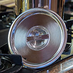 """Carlisle 607904C 6.5"""" Round Bain Marie Pot Cover - Stainless"""