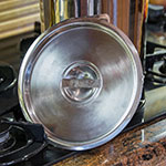 """Carlisle 607908C 8"""" Round Bain Marie Pot Cover - Stainless"""