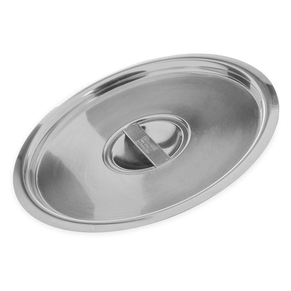 "Carlisle 607908C 8"" Bain Marie Pot Cover - 18/8 Stainless"
