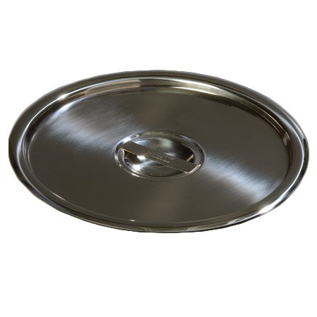 "Carlisle 607912C 9"" Bain Marie Pot Cover - 18/8 Stainless"