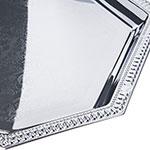 "Carlisle 608902 Octagonal Celebration Tray - 20x13-3/4"" Chrome-Plated"