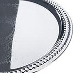 """Carlisle 608905 13"""" Round Celebration Tray - Chrome-Plated"""
