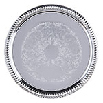 "Carlisle 608907 14"" Round Celebration Tray - Chrome-Plated"