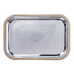 "Carlisle 608909 Rectangular Celebration Tray - 20-5/8x14"" Chrome-Plated"