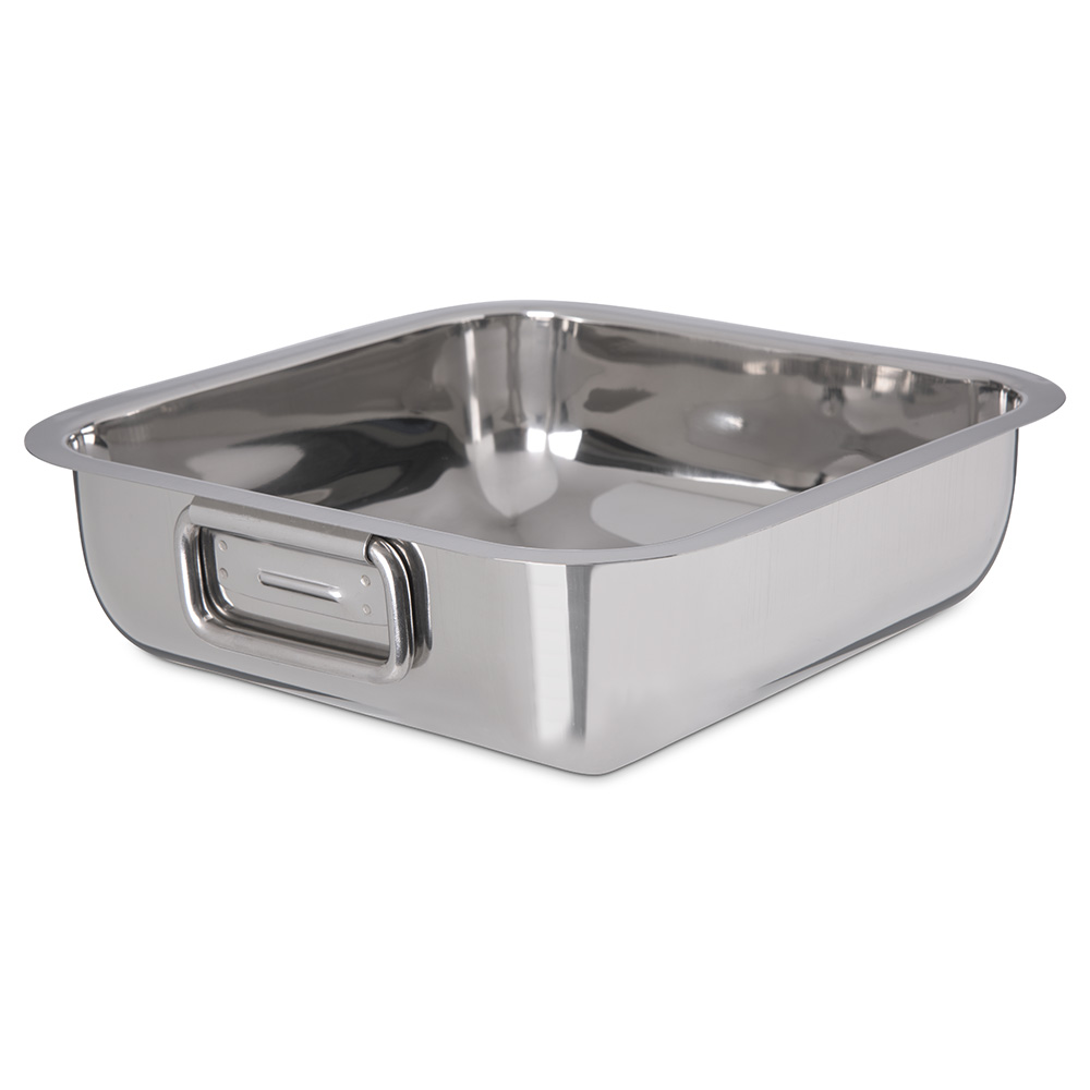 "Carlisle 609084 10"" Square Display Dish - Stainless Steel"