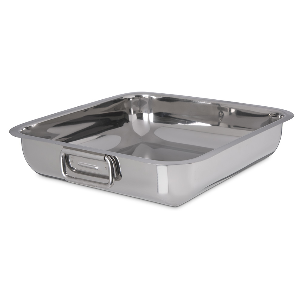 "Carlisle 609085 12.2"" Square Display Dish - Stainless Steel"