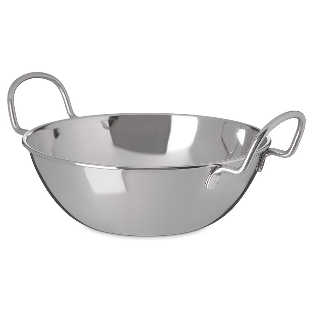 "Carlisle 609094 7-1/2"" Round Balti Dish - Stainless"