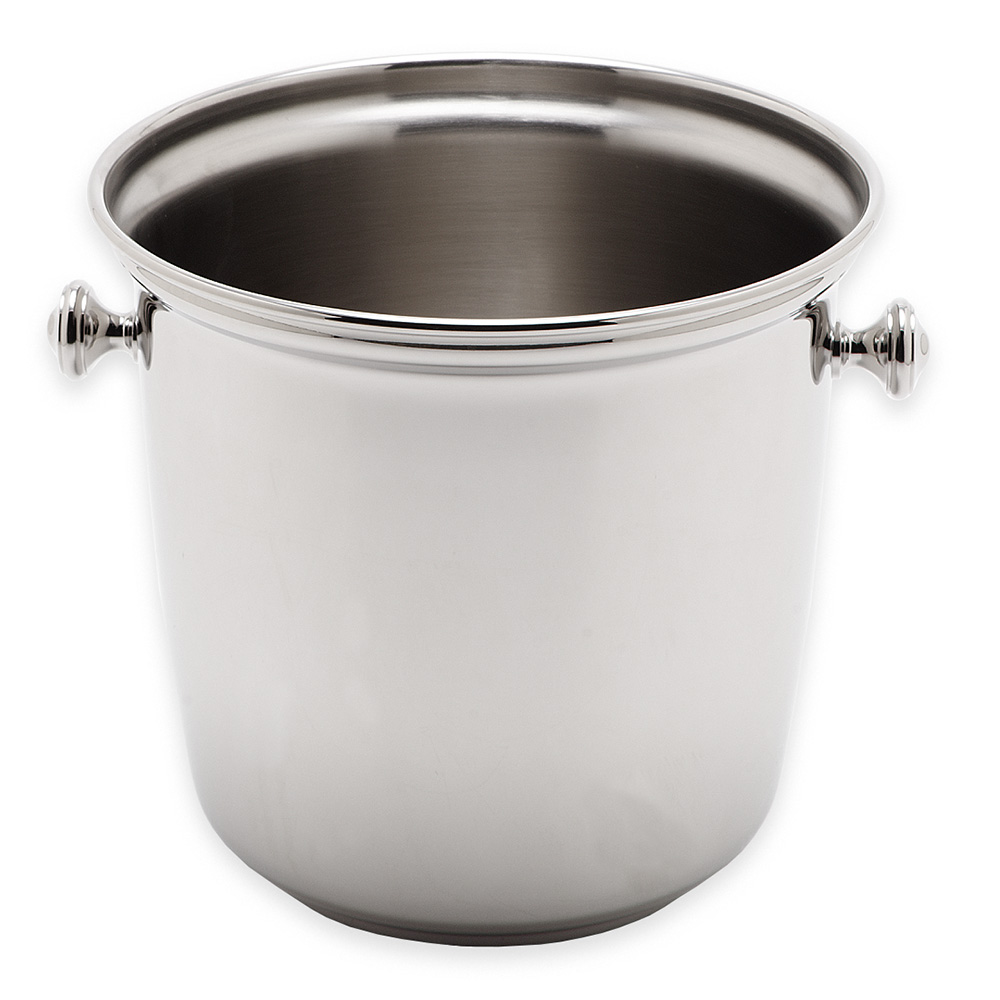 "Carlisle 609110 7.5"" Round Wine Bucket - Stainless"