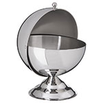 Carlisle 609133 30-oz Serving Bowl - Roll Top Cover, Stainless