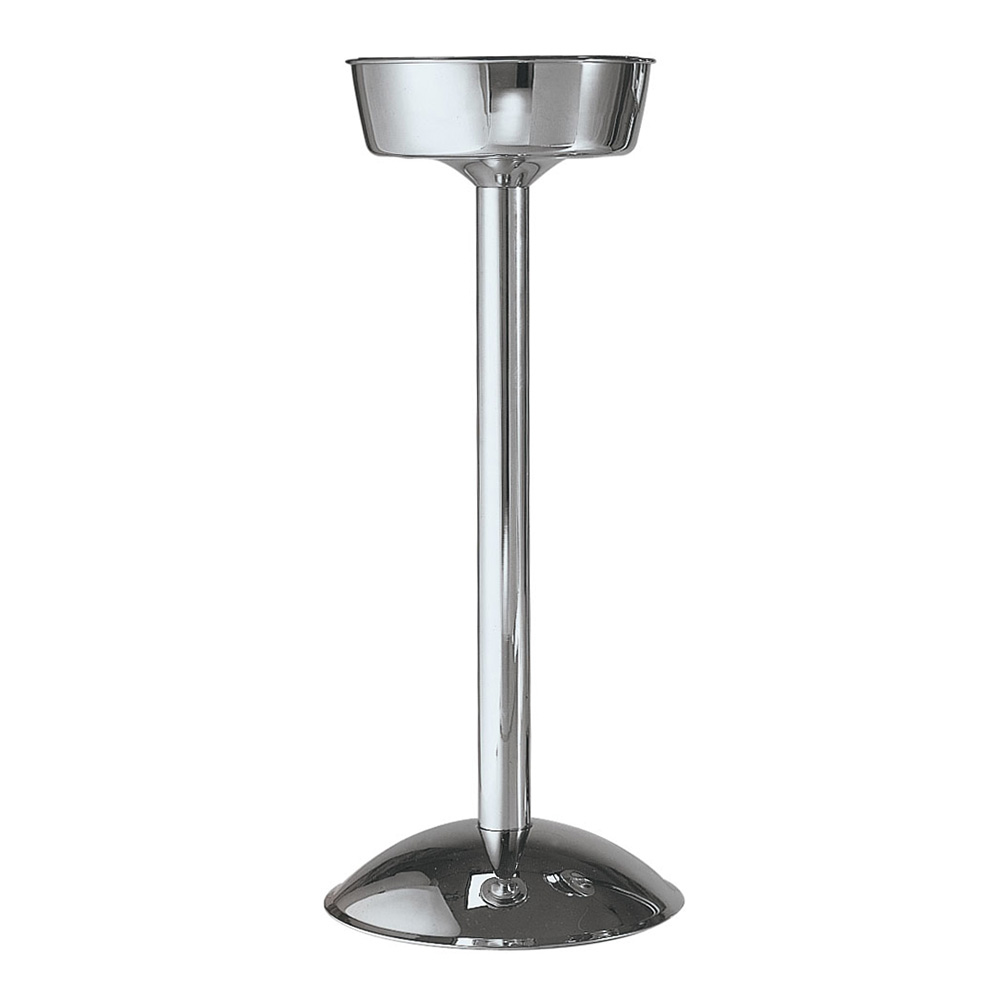 "Carlisle 609146 7-5/8"" Round Wine Bucket Stand - Weighted Base, Stainless"