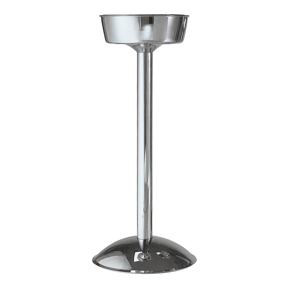 "Carlisle 609147 8-1/2"" Round Wine Bucket Stand - Weighted Base, Stainless"