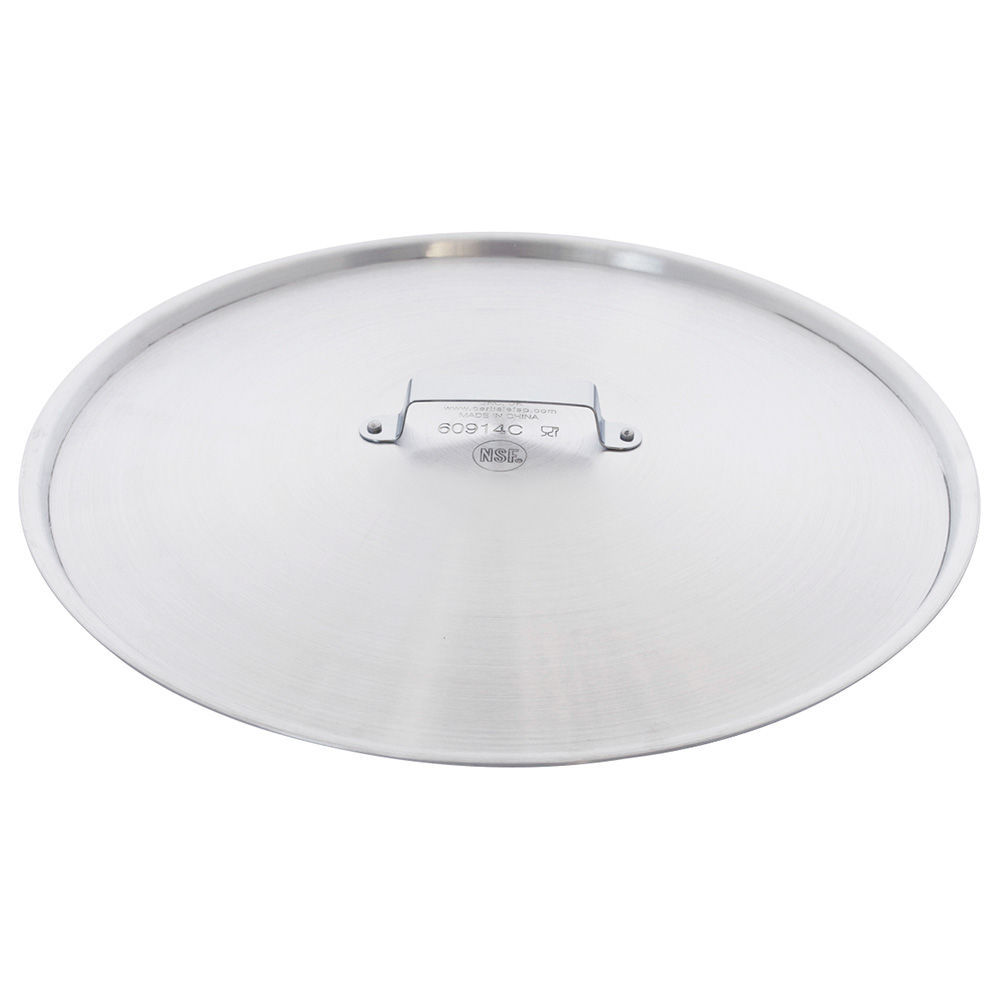 "Carlisle 60914C 14"" Round Fry Pan Cover - Domed, Aluminum"
