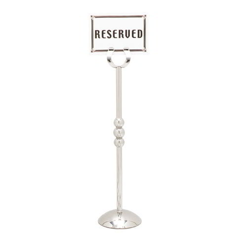 "Carlisle 609185 16"" Number Card Holder w/ Weighted Base - Stainless"
