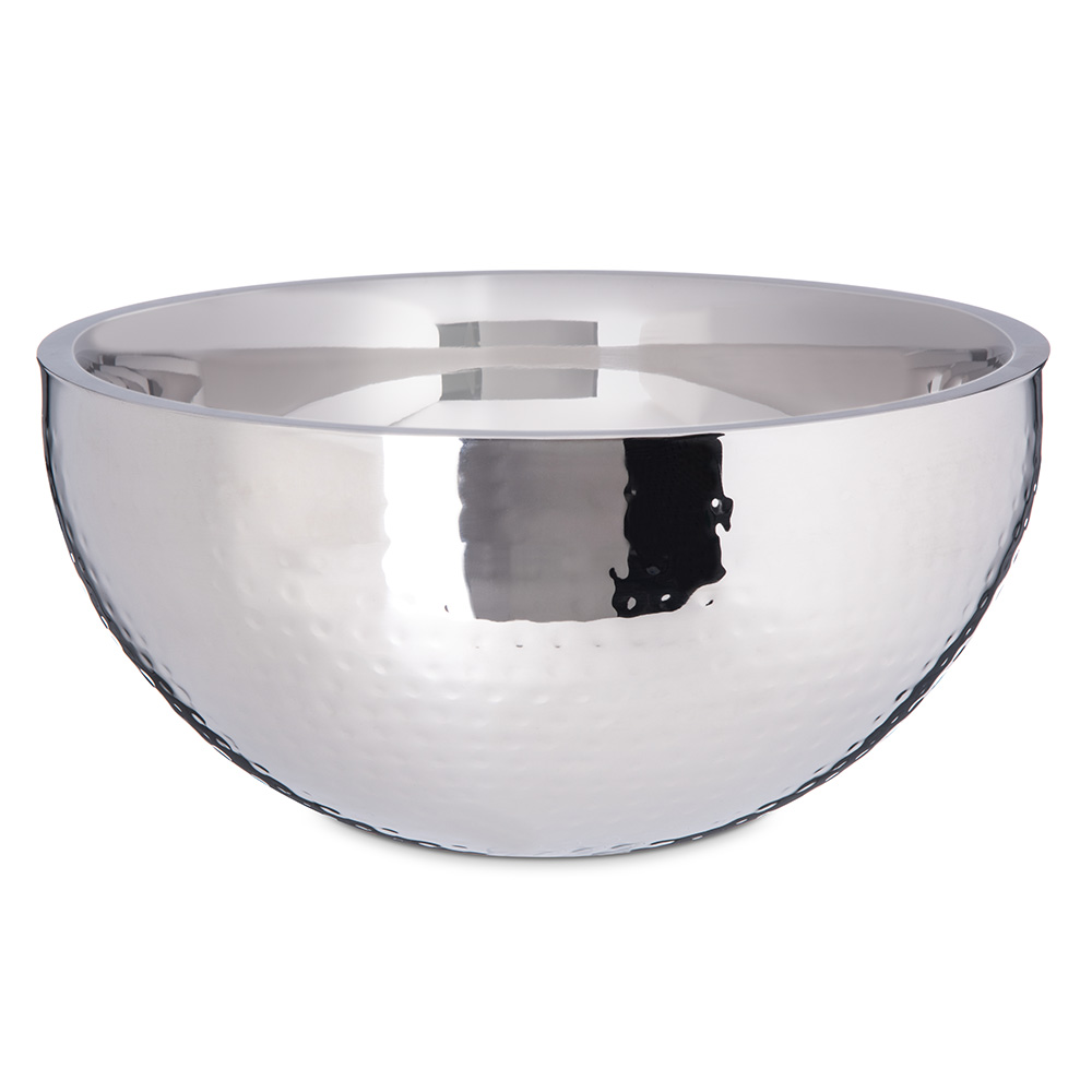 Carlisle 609203 5-3/4-qt Dual Angle Bowl - Hammered-Finish Stainless