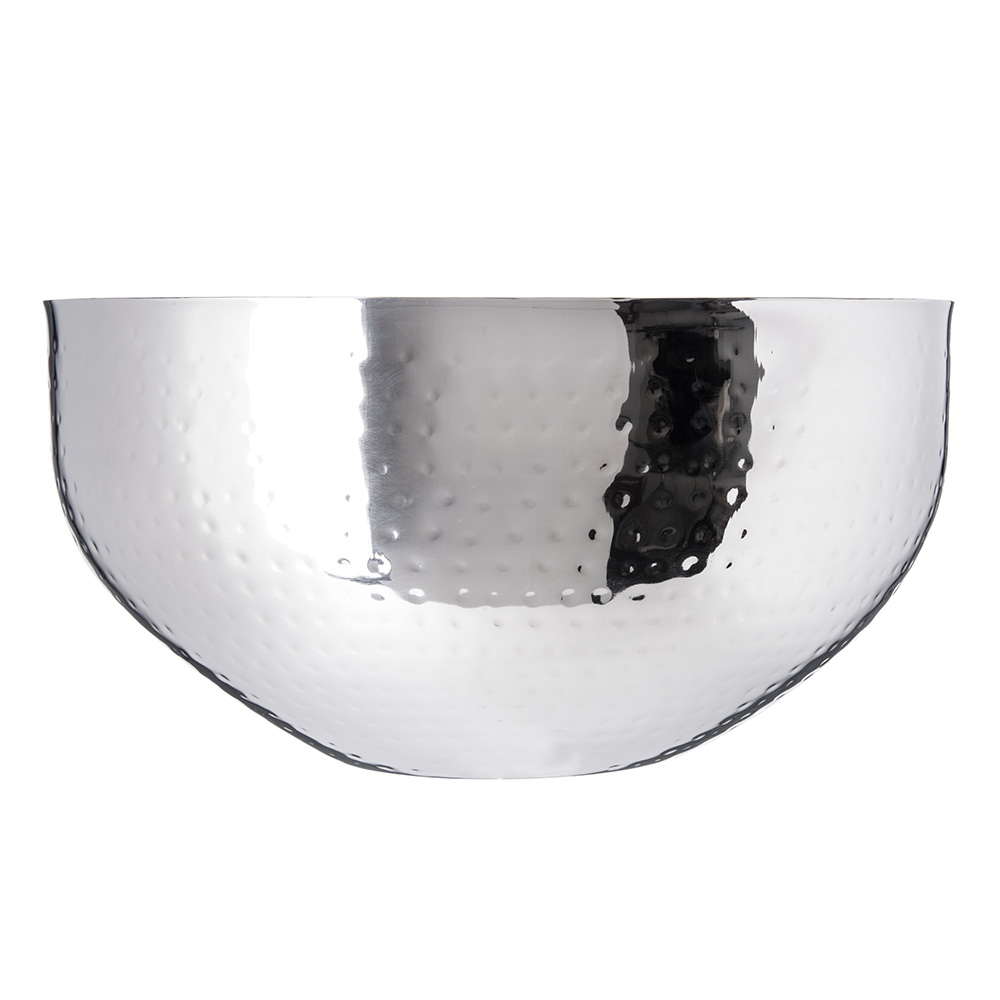 """Carlisle 609204 14"""" Round Dual Angle Bowl w/ 9.5-qt Capacity, Stainless"""