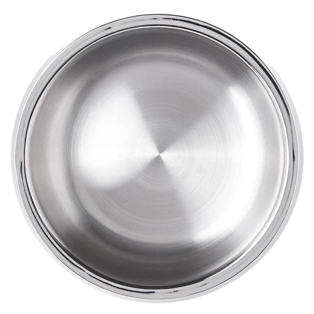 "Carlisle 609209 10.75"" Round Dual Angle Bowl w/ 4.375-qt Capacity, Stainless"
