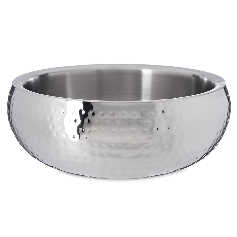 Carlisle 609209 4-3/8-qt Dual Angle Bowl - Hammered-Finish Stainless