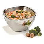 Carlisle 609211 3-1/2-qt Square Serving Bowl - Hammered-Finish Stainless