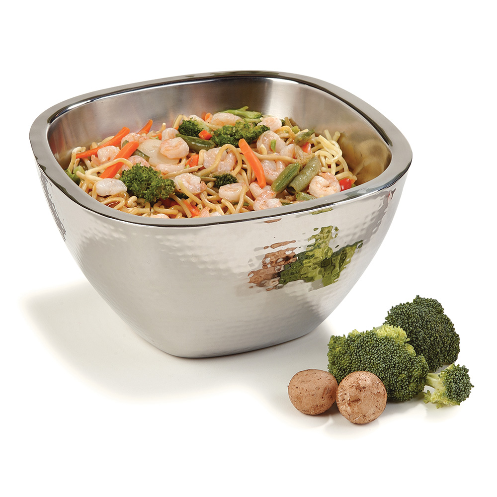 "Carlisle 609211 10"" Square Serving Bowl w/ 3.5-qt Capacity, Stainless"