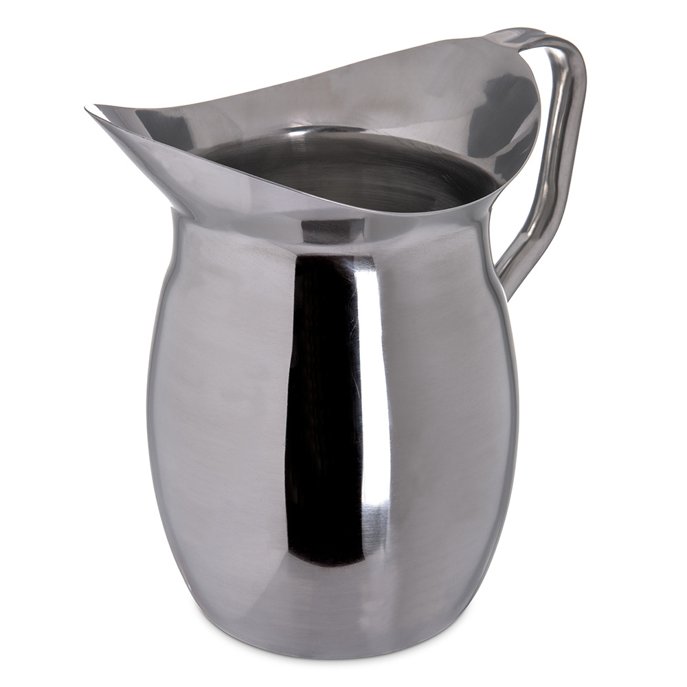 Carlisle 609273 3-qt Bell Pitcher - Stainless Steel