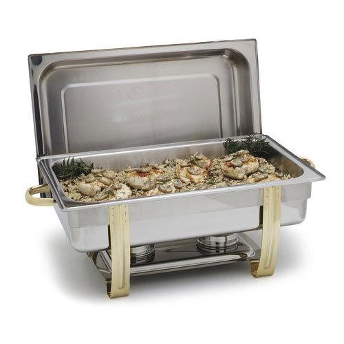 Carlisle 609550 8-qt Rectangular Chafer - Dripless Water Pan, Stainless Steel