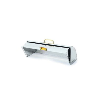Carlisle 609590 Universal Roll Top Rectangular Cover - Front Loading, Stainless