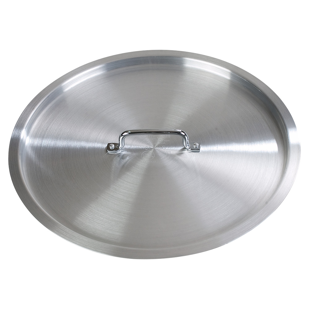 "Carlisle 61200C 21"" Flat Stock Pot Cover - Aluminum"
