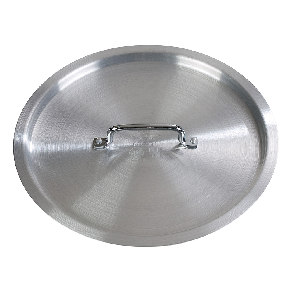"Carlisle 61280C 20"" Stock Pot Cover for 61280, Aluminum"