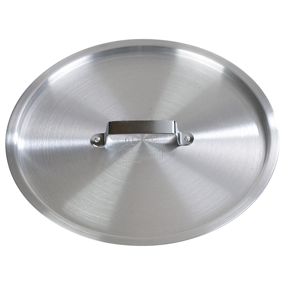 """Carlisle 61704C 9"""" Flat Sauce Pan Cover - Aluminum"""