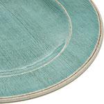 "Carlisle 6400115 11"" Round Dinner Plate - Melamine, Aqua"
