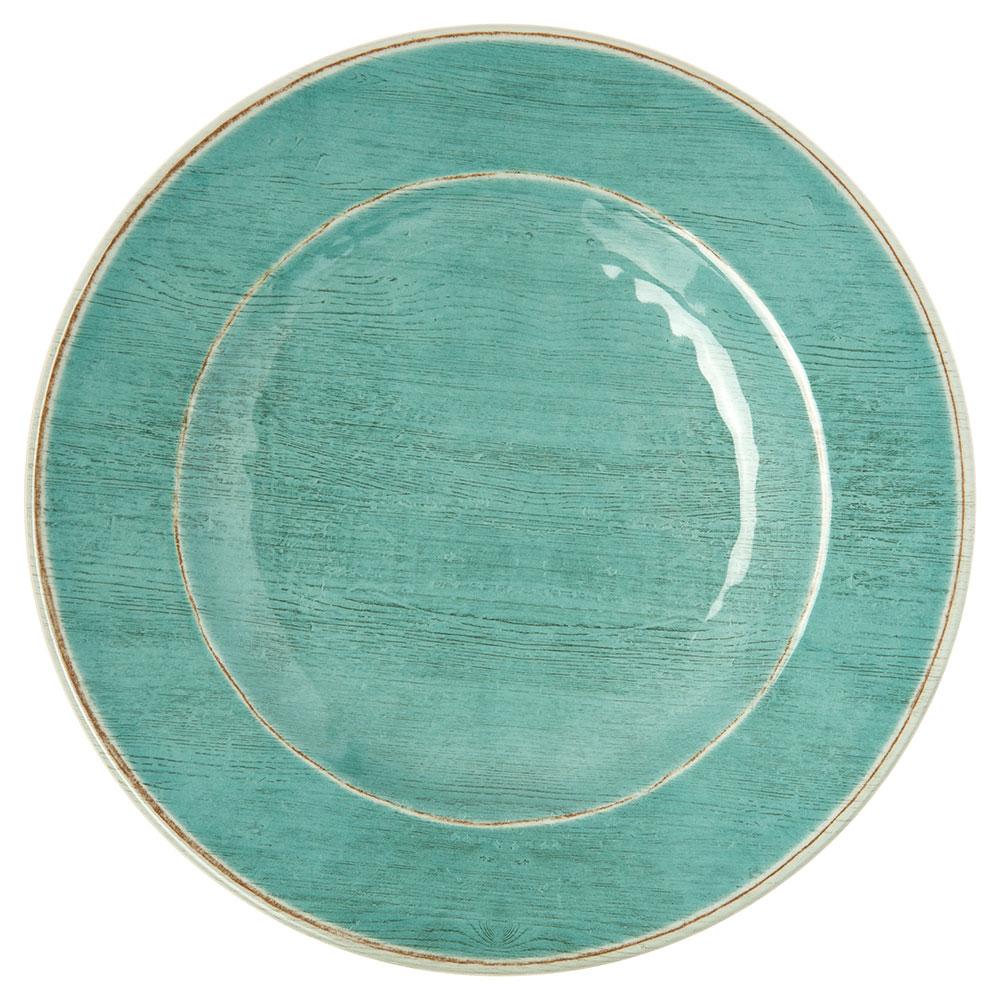 "Carlisle 6400115 11"" Grove Dinner Plate - Melamine, Aqua"