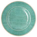 "Carlisle 6400215 9"" Grove Salad Plate - Melamine, Aqua"
