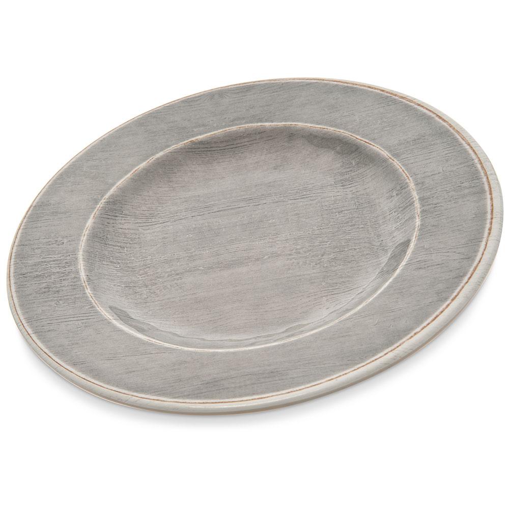 """Carlisle 6400218 9"""" Round Salad Plate - Melamine, Smoke Gray"""