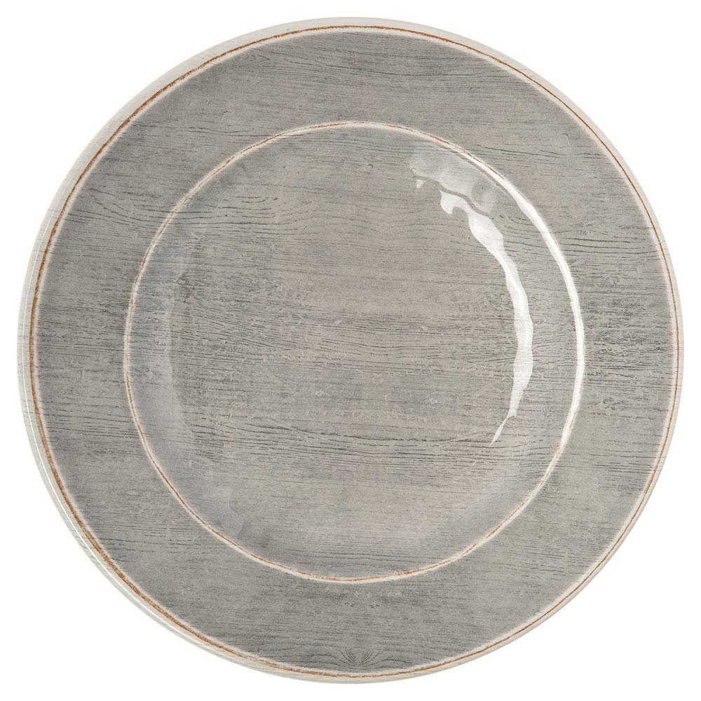 "Carlisle 6400218 9"" Grove Salad Plate - Melamine, Smoke Gray"