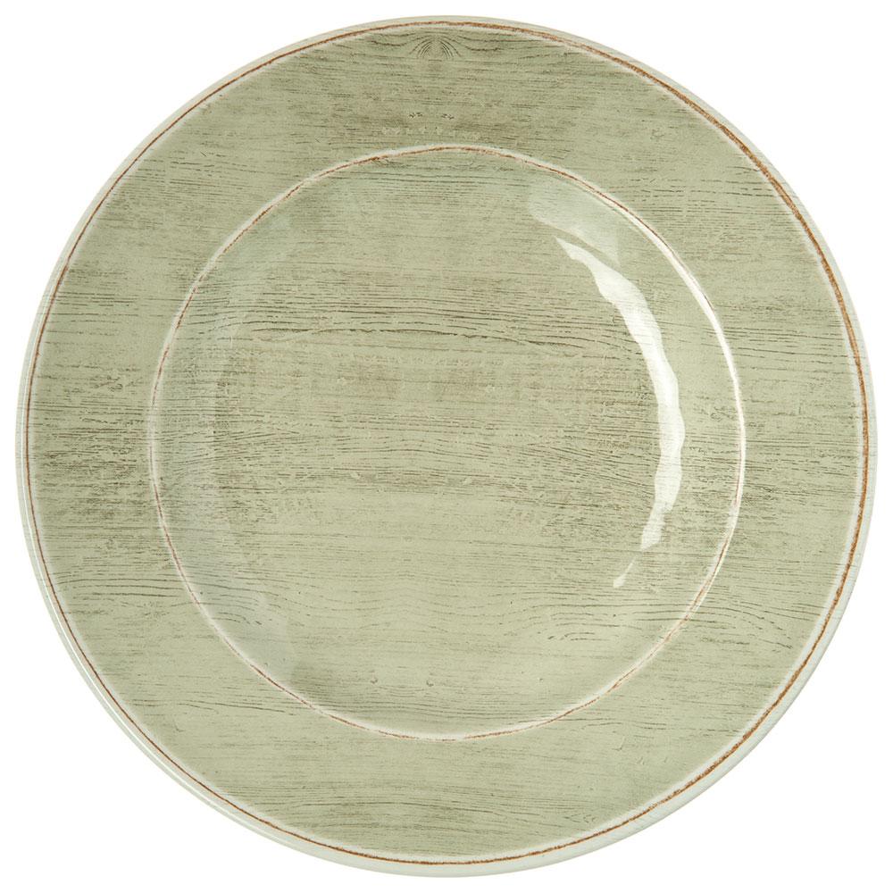 """Carlisle 6400246 9"""" Grove Salad Plate - Melamine, Jade"""