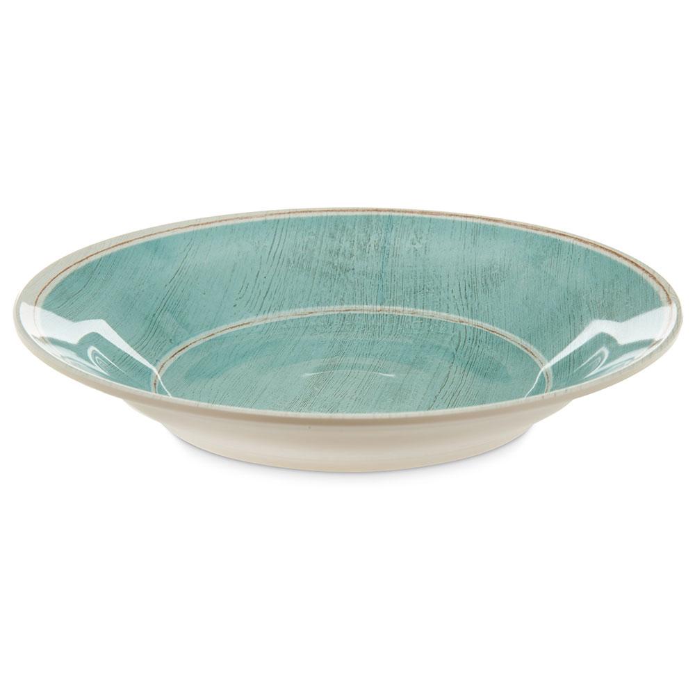 """Carlisle 6400315 9"""" Round Soup Bowl w/ 28.5-oz Capacity, Melamine, Aqua"""