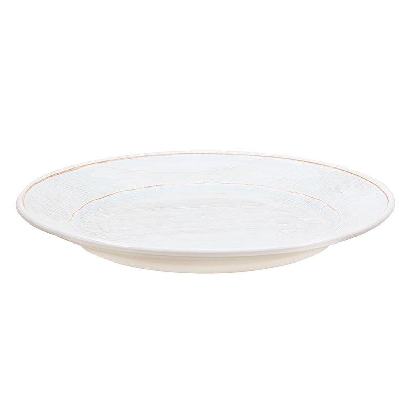 "Carlisle 6400406 12.5"" Grove Charger Plate - Melamine, Buff"