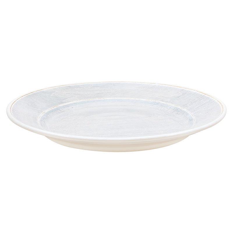 "Carlisle 6400418 12.5"" Grove Charger Plate - Melamine, Smoke Gray"
