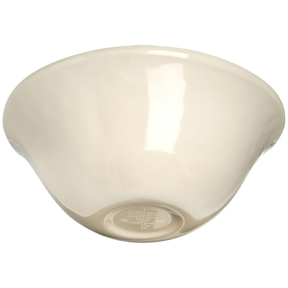"Carlisle 6401306 7"" Round Ice Cream Bowl w/ 27-oz Capacity, Melamine, Buff"
