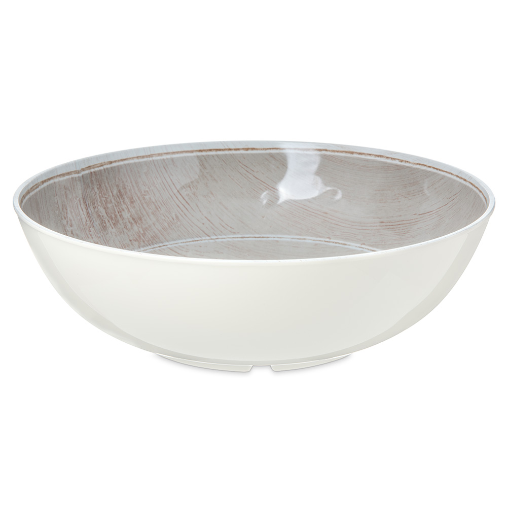 Carlisle 6401770 5.2-qt Grove Large Serving Bowl - Melamine, Adobe