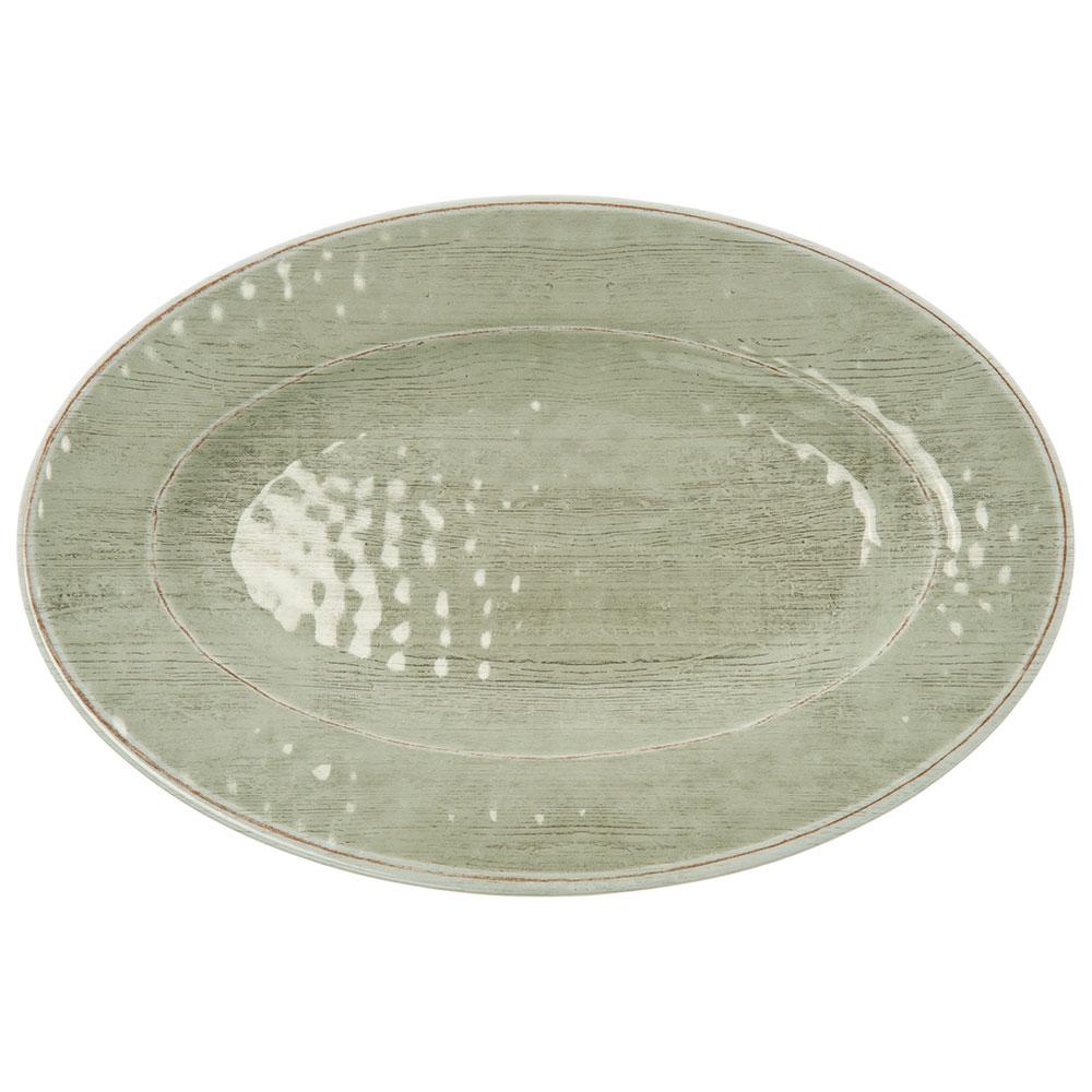 """Carlisle 6402046 Oval Plate - 12"""" x 8"""", Melamine, Jade"""