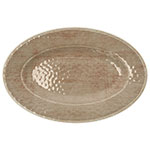 "Carlisle 6402070 Grove Oval Serving Plate - 12"" x 8"", Melamine, Adobe"