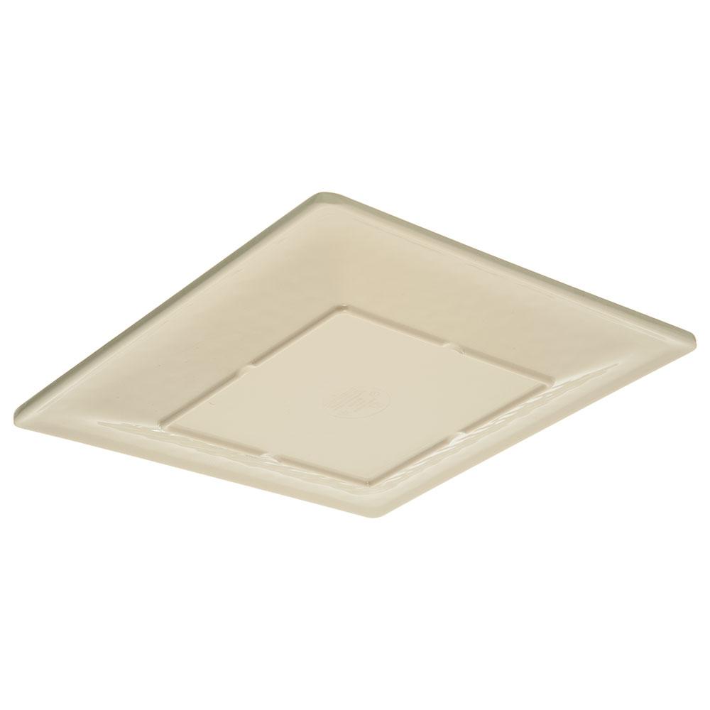 "Carlisle 6402206 10.5"" Square Dinner Plate - Melamine, Buff"