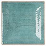 "Carlisle 6402215 10.5"" Square Dinner Plate - Melamine, Aqua"
