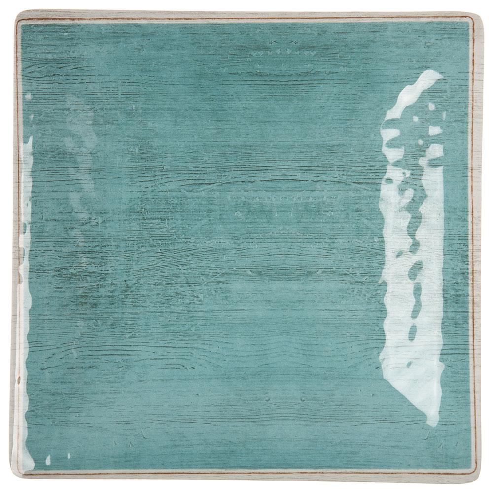 "Carlisle 6402215 10.5"" Grove Square Dinner Plate - Melamine, Aqua"